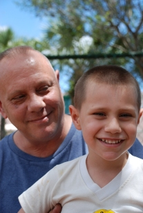 Eddie and Eddie, a father and son who came through the Coalition's programs, show the changing face of homelessness
