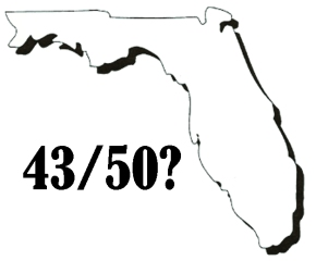 Florida 43 out of 50