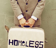 homeless,man,suitcase