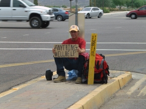 homeless on corner