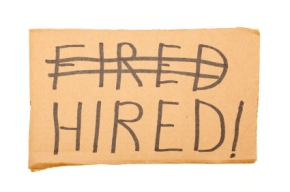 Fired Hired Sign
